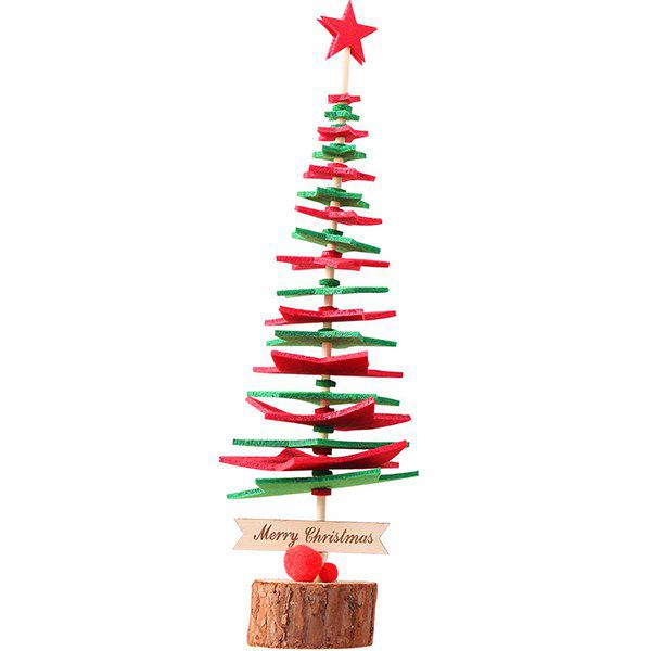 Fancy Festive Party Decoration Non-woven Five-pointed Star DIY Christmas Tree Puzzle Assembled Christmas Ornaments