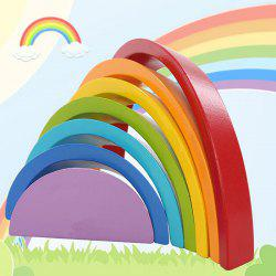 Wooden Stacking Rainbow Shape Children Educational Toy -