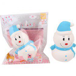 Squishy Slow Rebound Hooded Snowman PU Christmas Simulation Cake Decompression Toy -