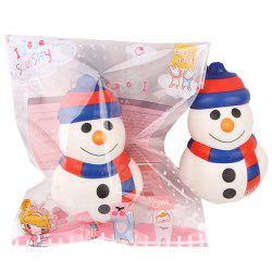Squishy Slow Rebound Big Snowman PU Christmas Simulation Cake Decompression Toy -