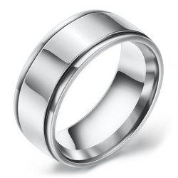 Mirrored Two-slot Stainless Steel Ring -