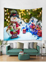 Merry Christmas Gift Snowman Pattern Tapestry Art Decoration -