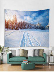 Snow Forest Christmas Tapestry Art Decoration -