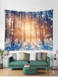 Snow Forest Sunshine Pattern Tapestry Art Decoration -