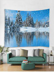 Snow Scene Christmas Theme Tapestry Art Decoration -