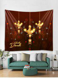 Christmas Chandelier Pattern Tapestry Art Decoration -