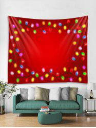 Christmas Light Pattern Tapestry Art Decoration -