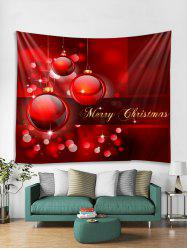 Merry Christmas Ball Pattern Tapestry Art Decoration -
