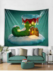 Christmas Boot House Print Tapestry Wall Hanging Decor -