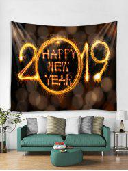 Happy New Year Print Tapestry Wall Hanging Decoration -