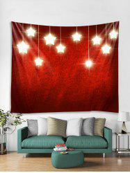 Christmas Stars Print Tapestry Wall Hanging Decor -