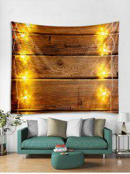 Christmas Light Wood Grain Print Tapestry Wall Hanging Decor -