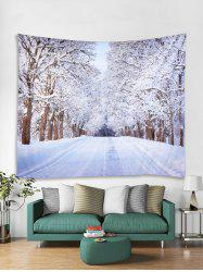 Snow Trees Highway Print Tapestry Wall Hanging Decoration -