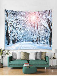 Sunlight Forest Road Print Tapestry Wall Hanging Decoration -