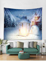 Christmas Lantern Ball Print Tapestry Wall Hanging Decoration -