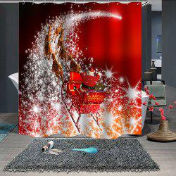 180 x 180cm Christmas Print Pattern Waterproof Breathable Bathroom Partition Shower Curtain -