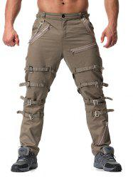 Trend Men's Youth Personality Metal Decoration Casual Trousers -