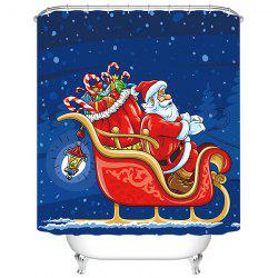 180 x 180cm Flying Christmas Sled 3D Digital Printing Thick Waterproof Mildew Resistant High-grade Polyester Shower Curtain -