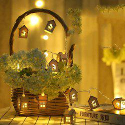 Wooden House Elk Lamp String Indoor Living Room Christmas Decoration Lamp -