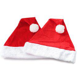 Gold Velvet Christmas Hat Adult Christmas Decoration -
