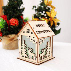 Christmas Decoration Lights Color Cabin Christmas Tree Decoration Supplies Trumpet -