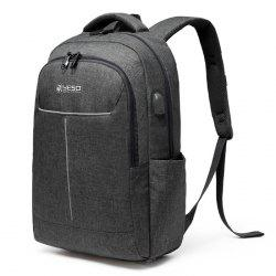 YESO Men Backpack Casual Multifunctional Oxford Traveling -