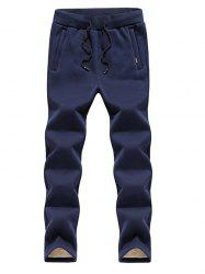 Black Winter Casual Men's Straight Trend Pants -