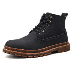 Men Leisure Boots Comfortable Classic High-top Lace-up -