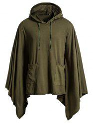 Festive Jacket Hooded Turtleneck Solid Color Hoodie -