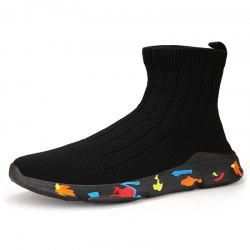 Men Leisure Sneakers Comfortable High-top Anti-slip -