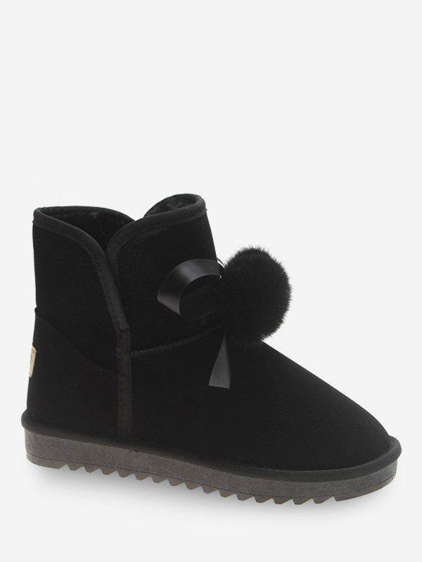 Store Bow and Fuzzy Ball Decorative Snow Boots