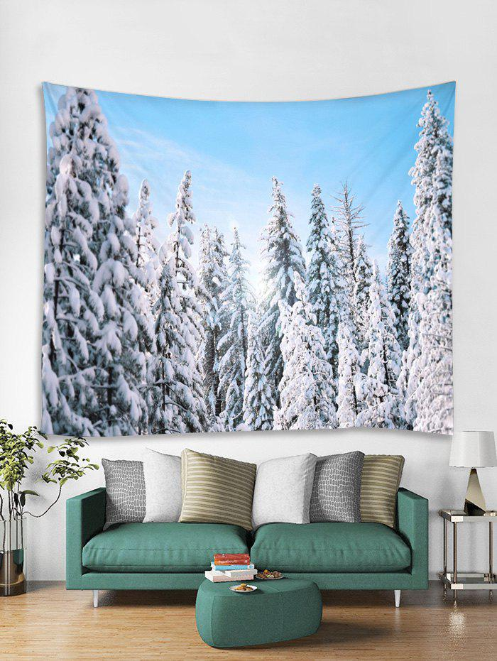 Trendy Snow Forest Christmas Theme Tapestry Art Decoration