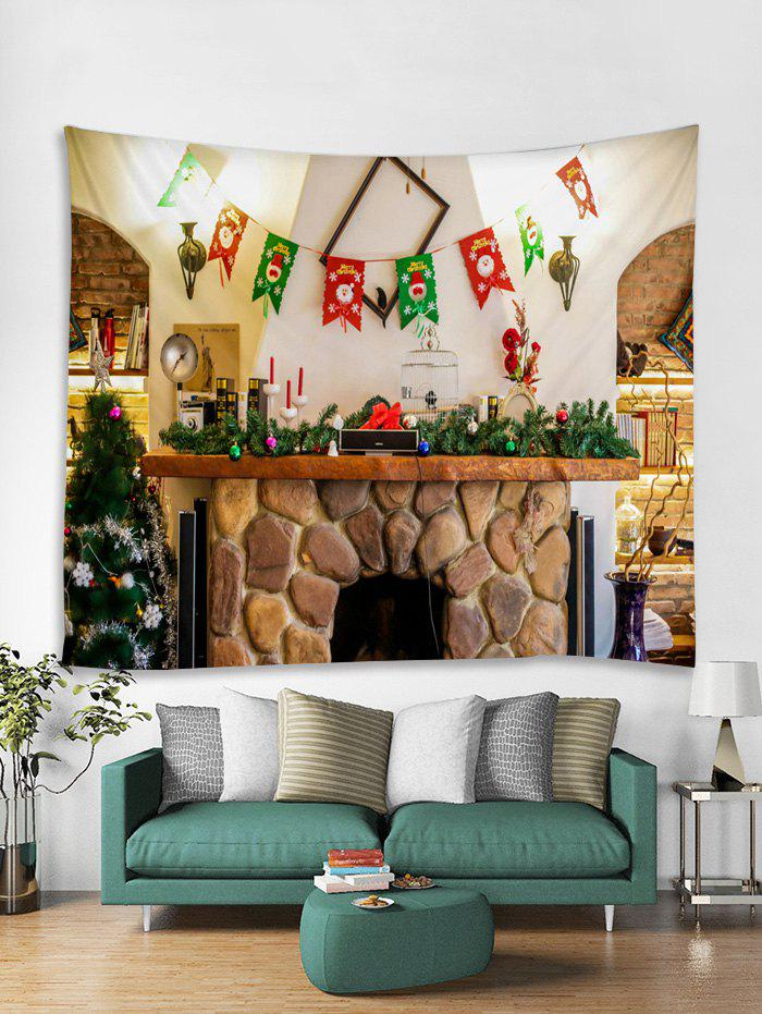 Chic Christmas Tree Flag Pattern Tapestry Art Decoration
