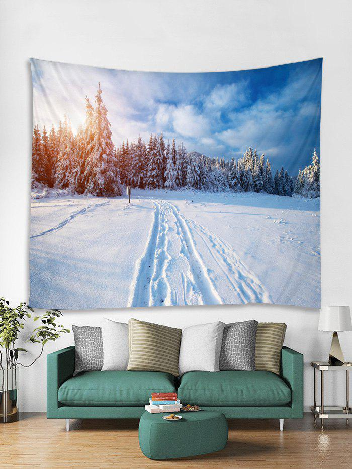 Sale Snow Forest Christmas Tapestry Art Decoration