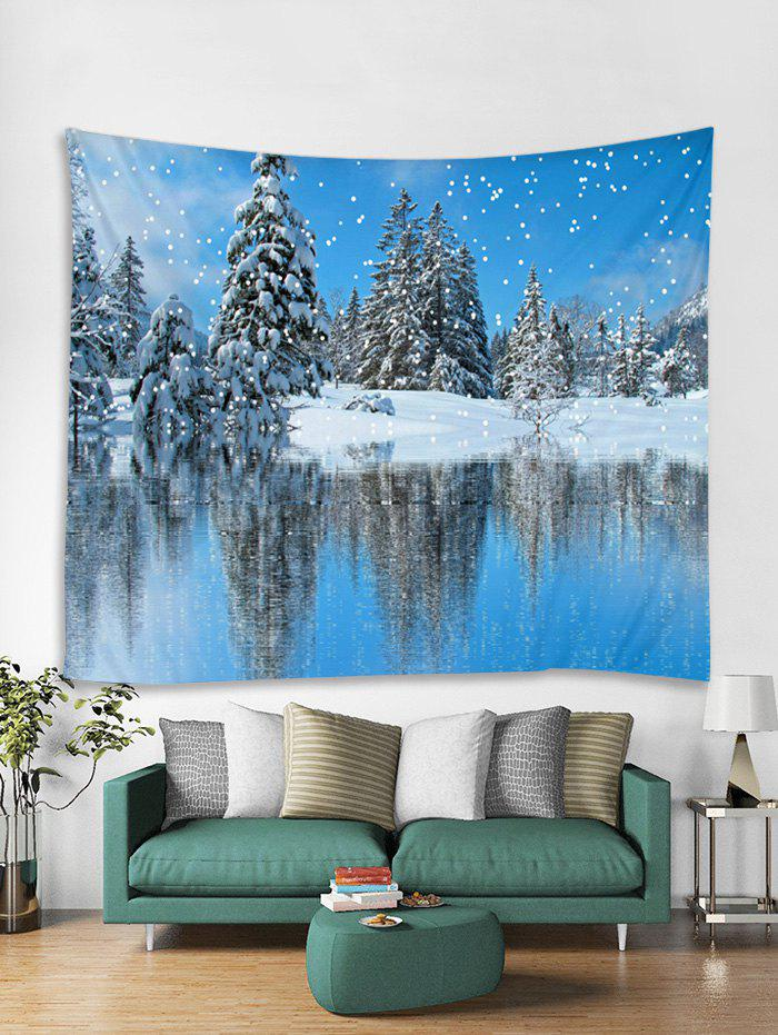 Shops Snow Scene Christmas Theme Tapestry Art Decoration