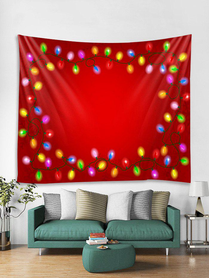 Unique Christmas Light Pattern Tapestry Art Decoration