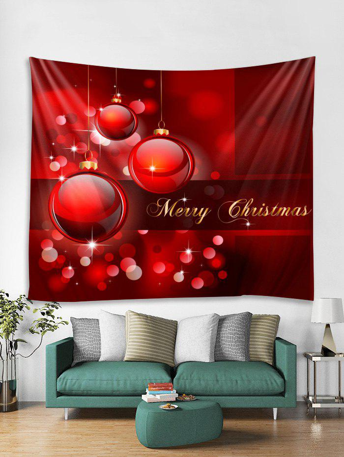 Affordable Merry Christmas Ball Pattern Tapestry Art Decoration