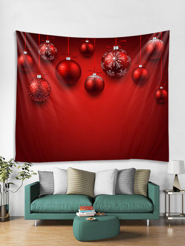 Trendy Christmas Snowflake Ball Pattern Tapestry Art Decoration