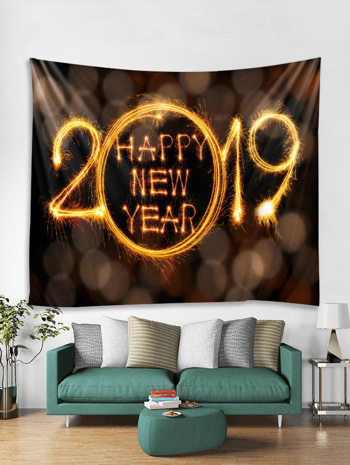 Unique Happy New Year Print Tapestry Wall Hanging Decoration
