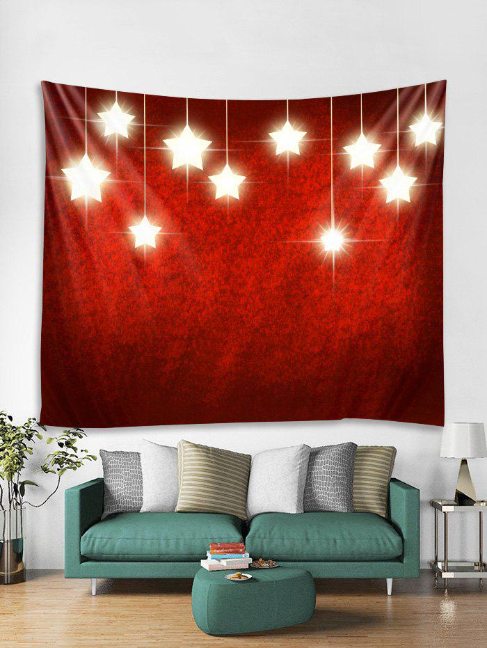 Fancy Christmas Stars Print Tapestry Wall Hanging Decor
