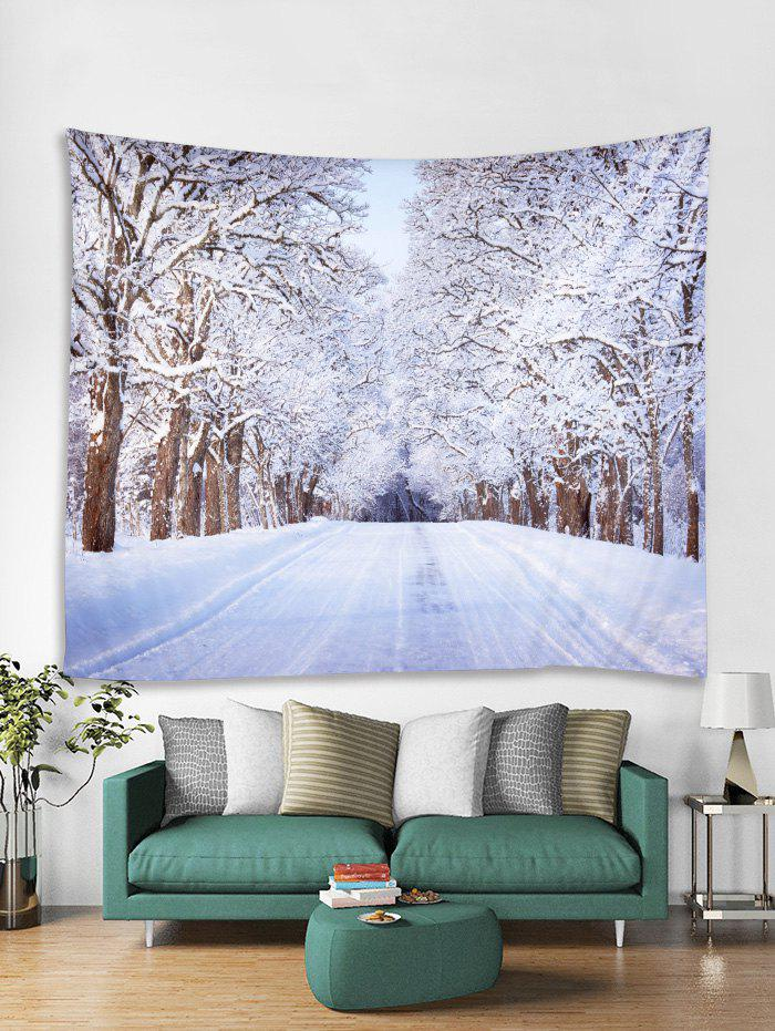 Discount Snow Trees Highway Print Tapestry Wall Hanging Decoration