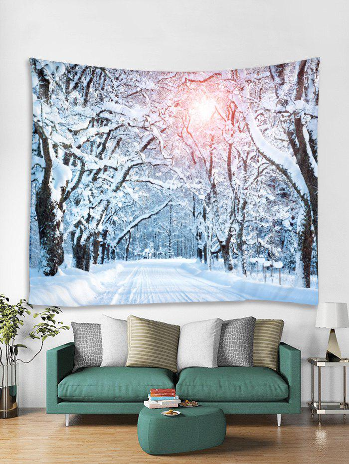Hot Sunlight Forest Road Print Tapestry Wall Hanging Decoration