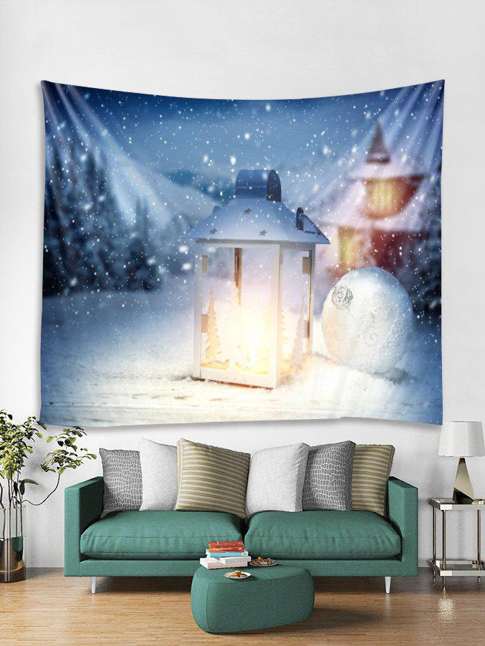 Best Christmas Lantern Ball Print Tapestry Wall Hanging Decoration