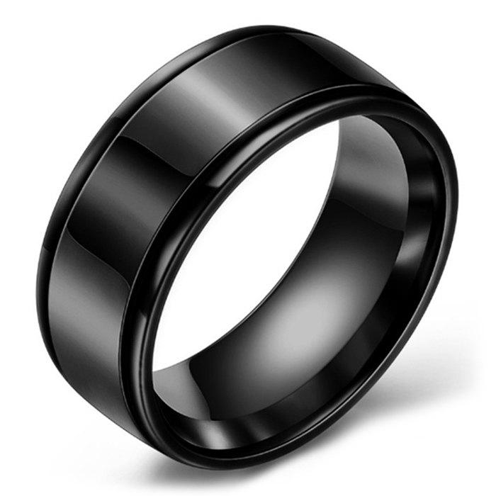 Online Mirrored Two-slot Stainless Steel Ring