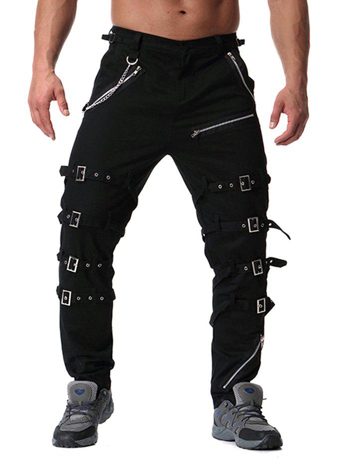 Outfits Trend Men's Youth Personality Metal Decoration Casual Trousers