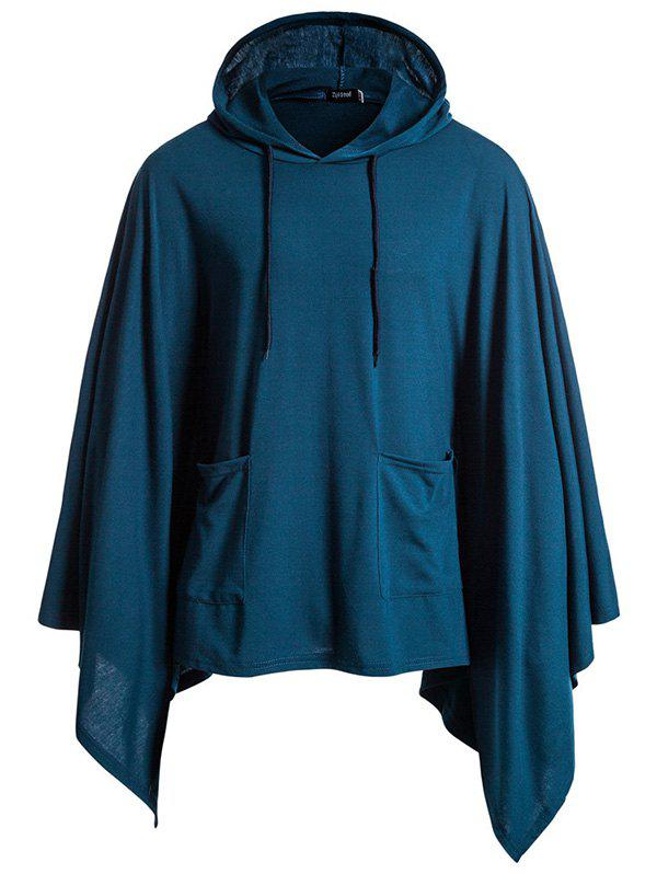 Discount Festive Jacket Hooded Turtleneck Solid Color Hoodie
