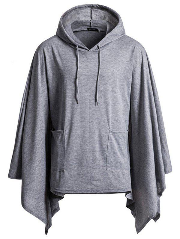 Cheap Festive Jacket Hooded Turtleneck Solid Color Hoodie
