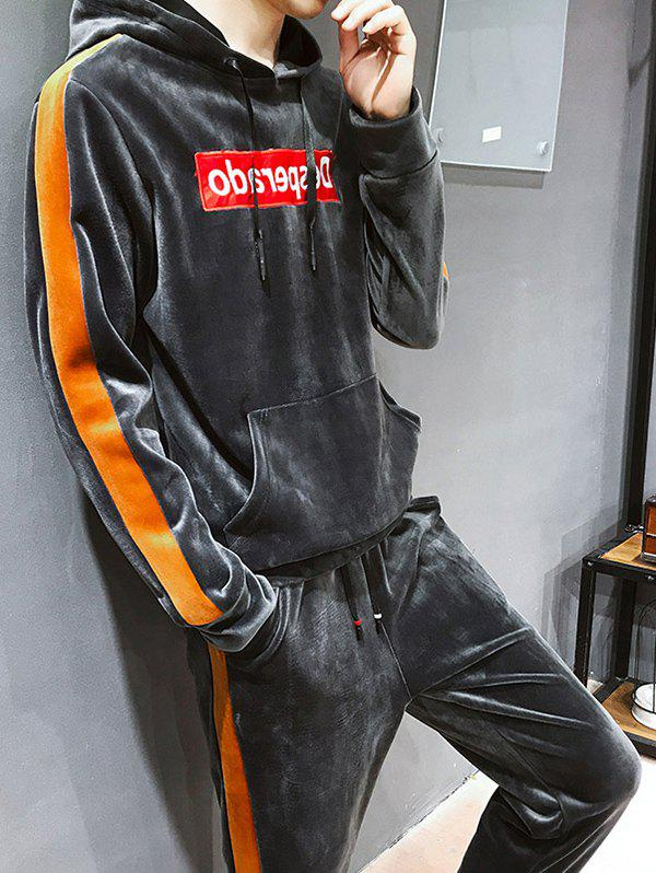 Online Fashion Hooded Sweater Winter Two-piece Suit