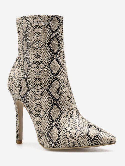 Latest Snake Print High Heel Boots