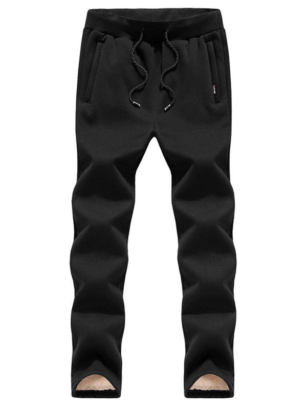 Discount Black Winter Casual Men's Straight Trend Pants